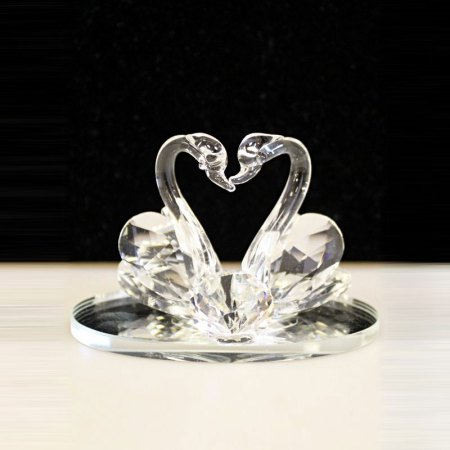small crystal swan