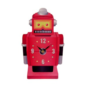 ted smith retro robot picture clock