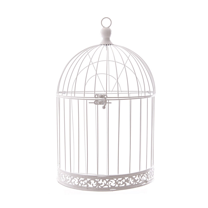 38cm domed wire bird cage decorative image 1