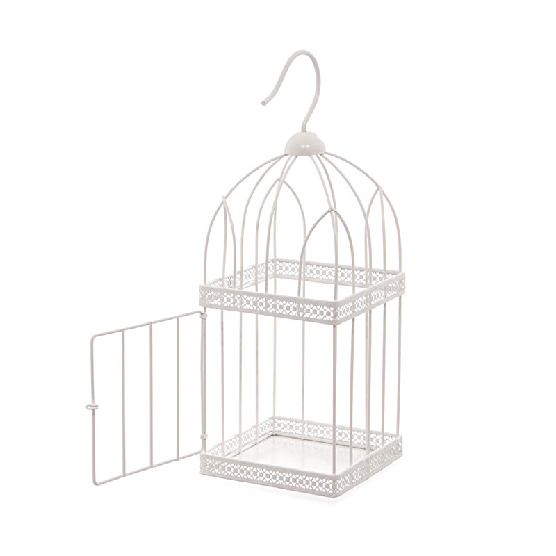 40cm square wire bird cage decorative image 1