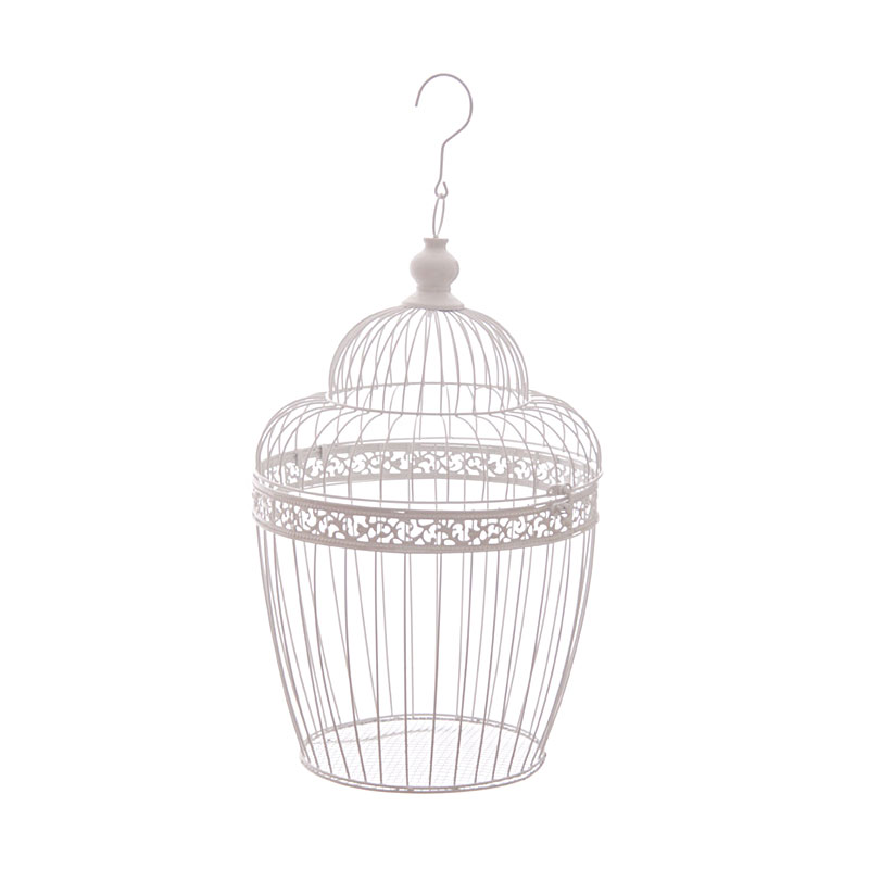 45cm wire bird cage decorative with dome image 1