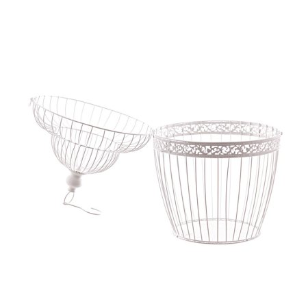 45cm wire bird cage decorative with dome image 3