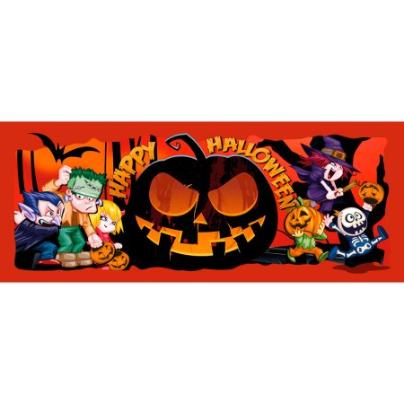Halloween Cake Toppers Funny Monsters Small Rectangle Design