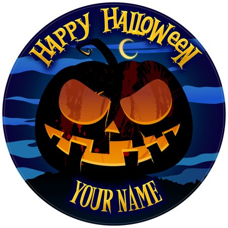 Halloween Cake Toppers Scary Pumpkin
