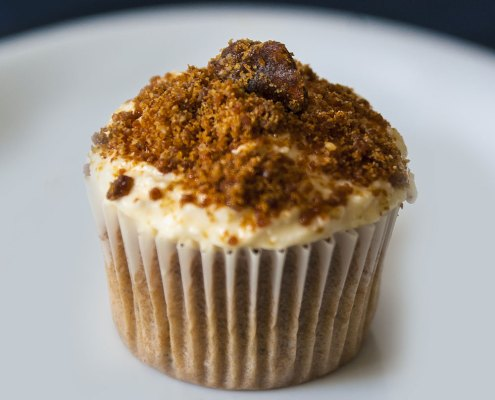 coffee and pecan cupcakes image