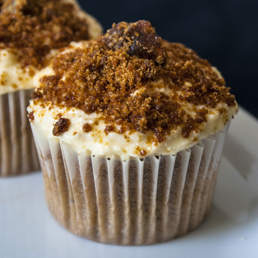 coffee and pecan cupcakes