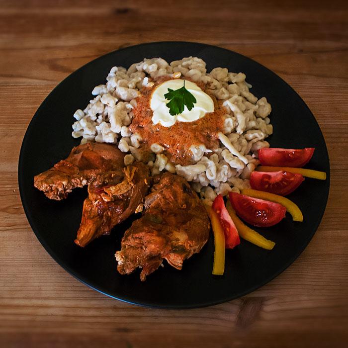 hungarian chicken paprikash image