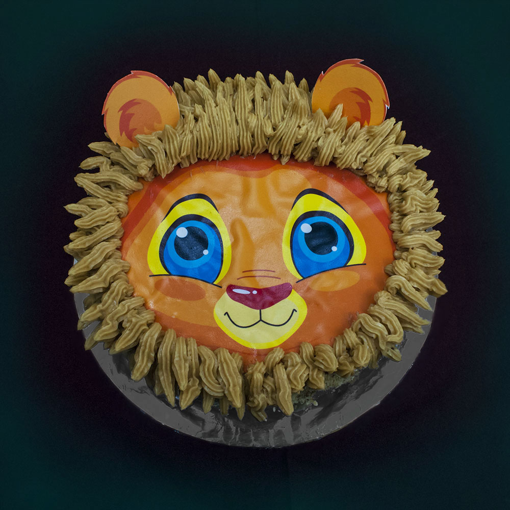 lion cake for baby boy image
