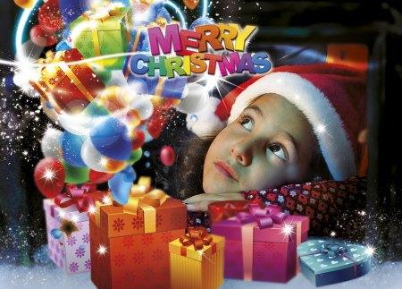Santa Claus greeting cards - Santa's helper image