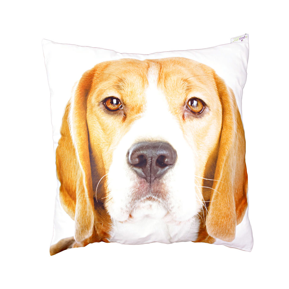 decorative art print beagle print cushion