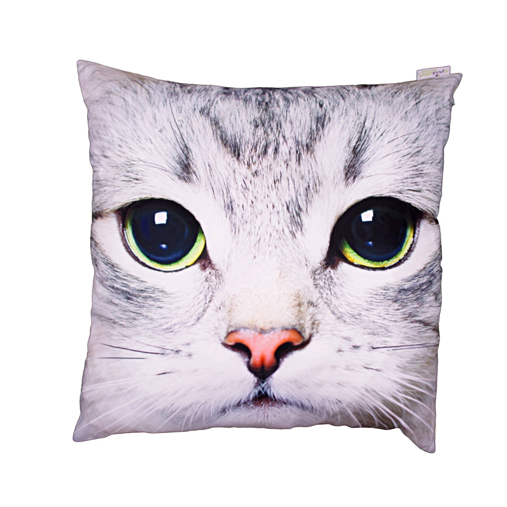 decorative art print cat cushion