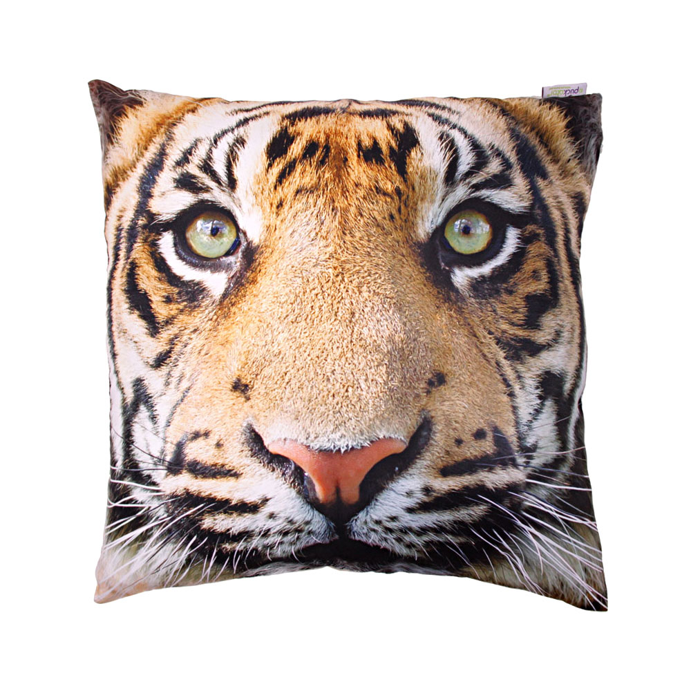 tiger print cushion