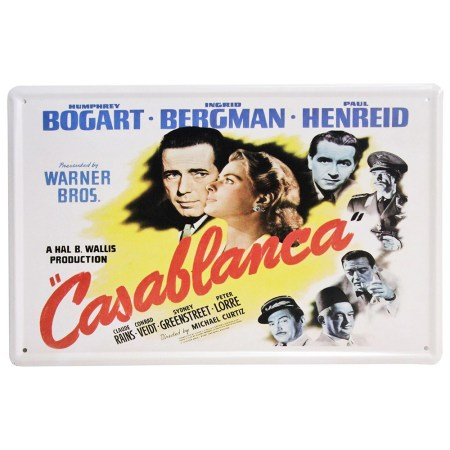 casablanca metal sign wall decor