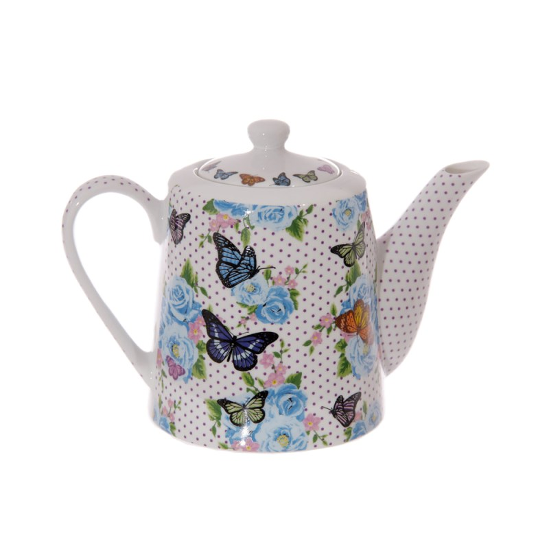 chintz bone china butterfly teapot image 1