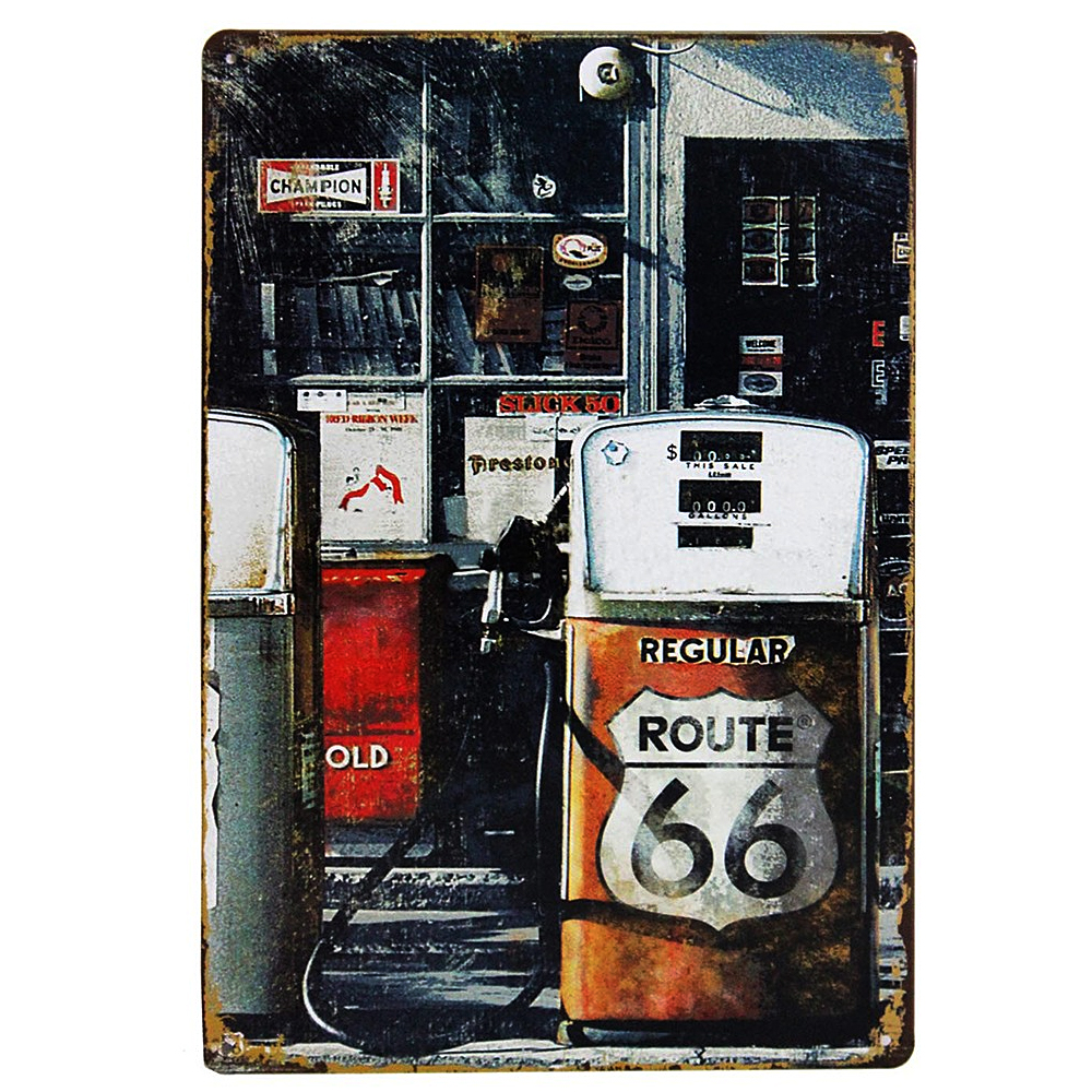 route 66 metal sign wall decorations