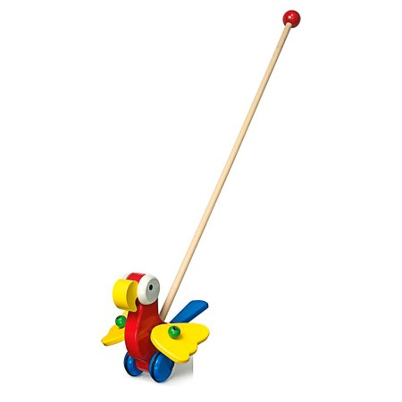 Pushing Wooden Parrot Toys from Legler image 1