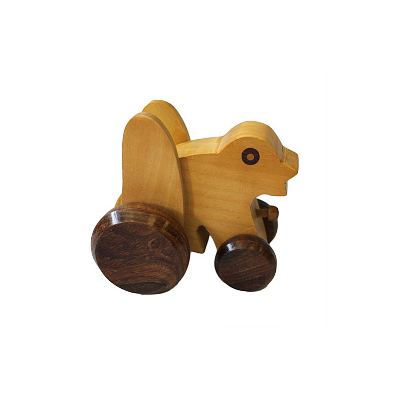 Indian haldu wood retro ornament toy mini frog