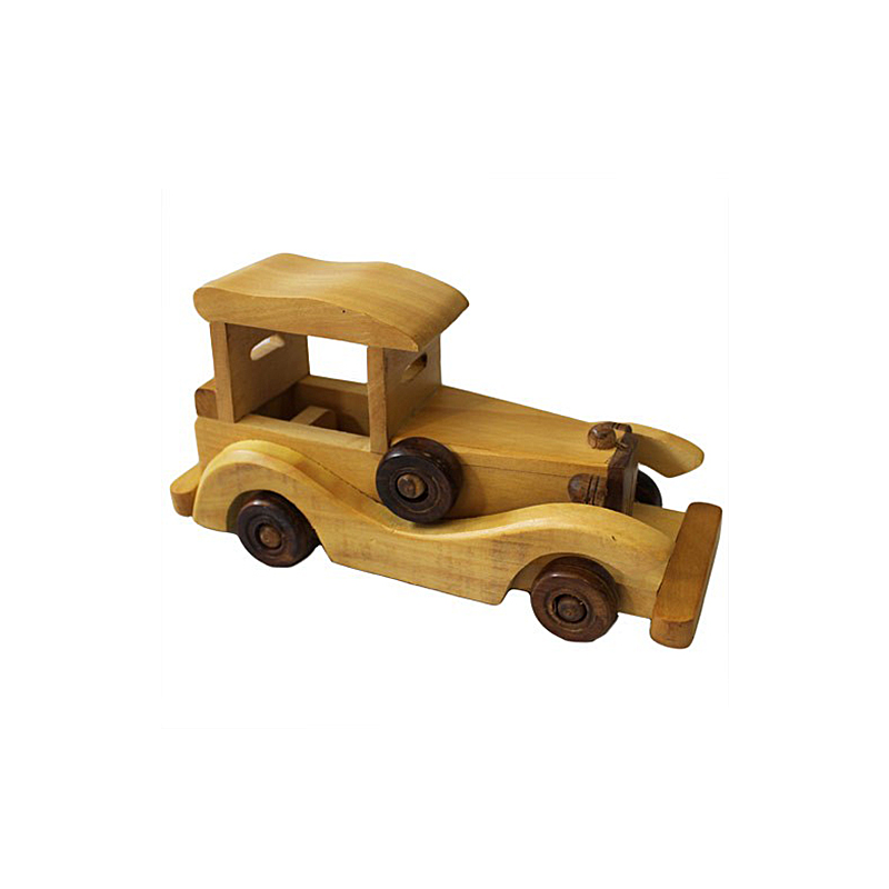 Indian haldu wood retro ornament toy old style car
