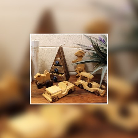 Wood Retro Ornament Toys