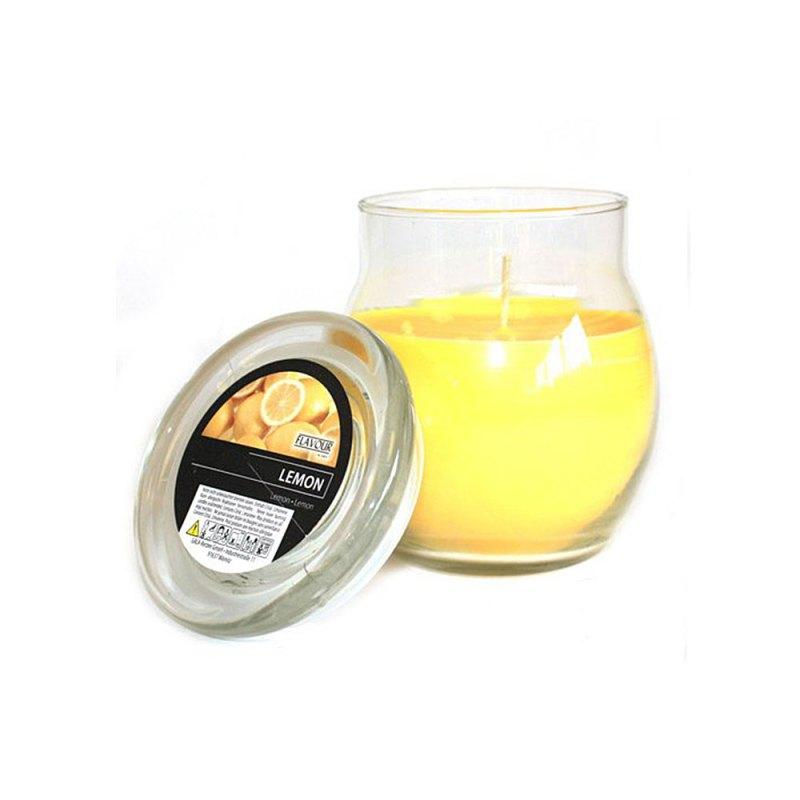 scented glass jar candles lemon