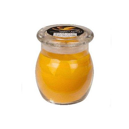 scented glass jar candles mango papaya 1