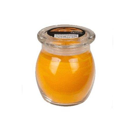 scented glass jar candles orange 1