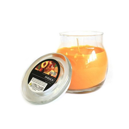 scented glass jar candles peach