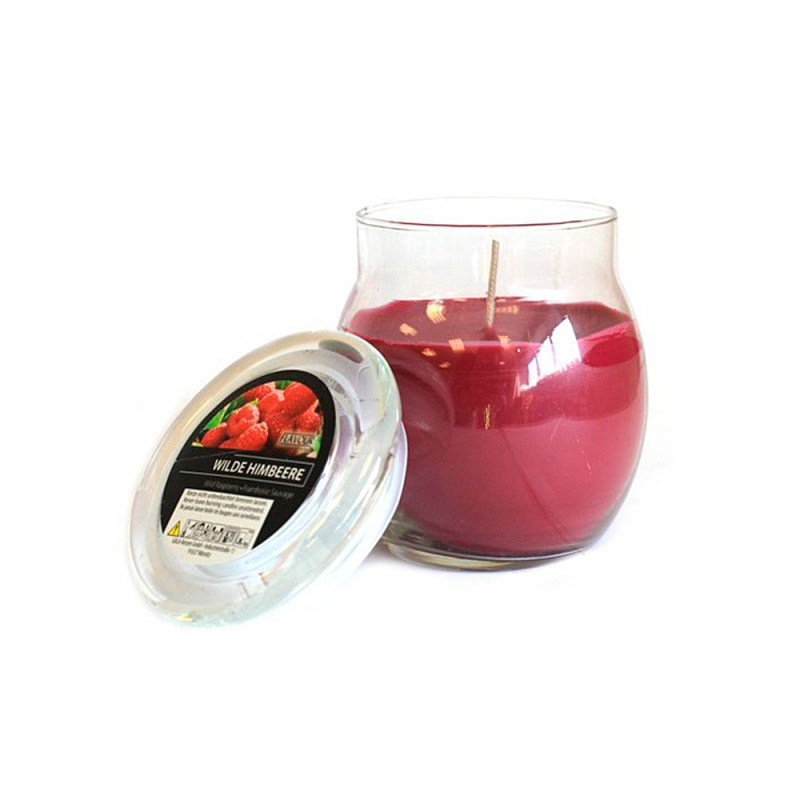 scented glass jar candles wild raspberry