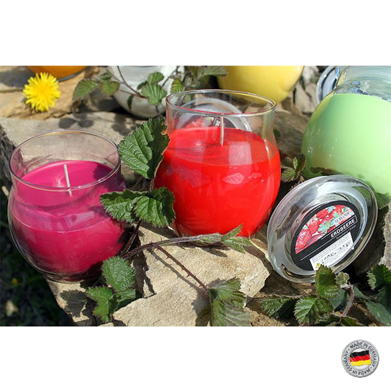 Scented Glass Jar Candles - fourteen fragrances