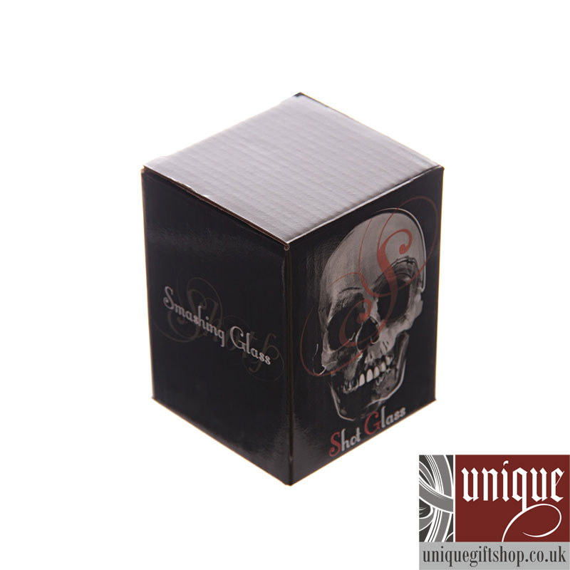 creative scary skull design cup shot glass packaging