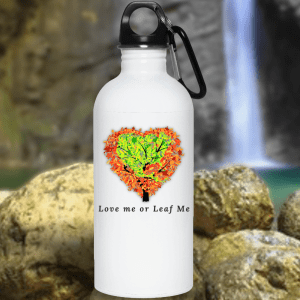 Valentines Day Water Bottles, Love the Earth Water Bottle, Earth Day Water Bottle, Tree Hugger Water Bottle
