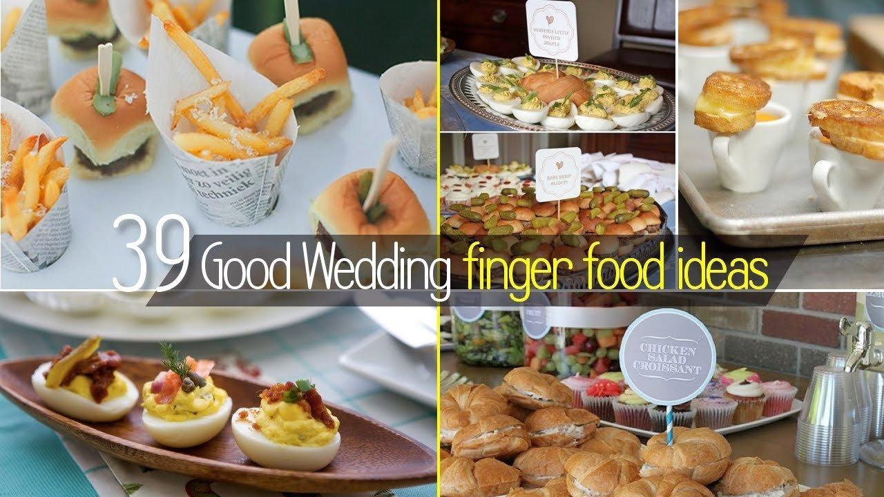 10 Cute Simple Wedding Reception Food Ideas 2019