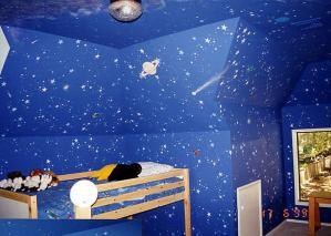宇宙にいるような気持ちになれる子供部屋