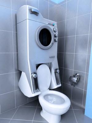 洗濯機と便器が一体化!?