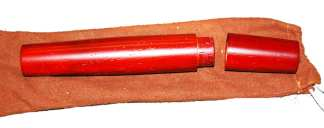 Teakwood Cigar Traveler Red