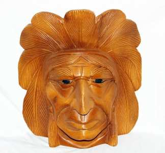 Indian Chief Carved Head