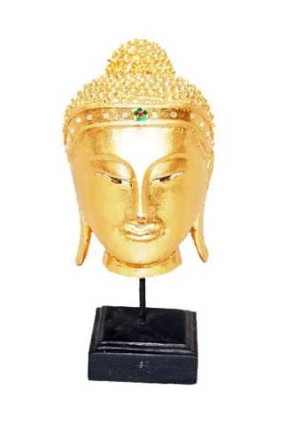 Small Gold Head of Buddha