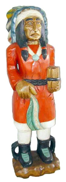 Hand Carved Native-American