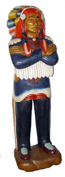 Hand Carved Native Chief Wood