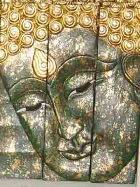 Face of a Green Buddha