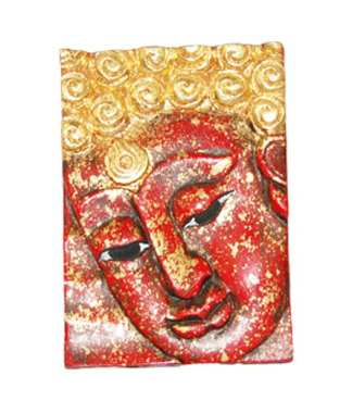 Face of Buddha in Red Left