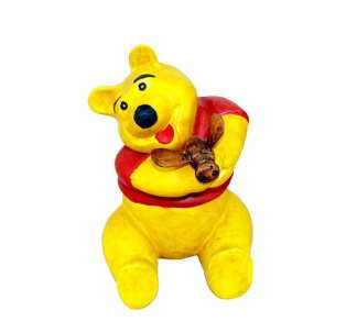 Solid Wood Pooh Hand Carved