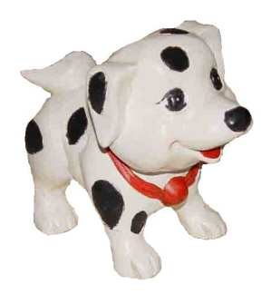 Carved Dalmatian Puppy