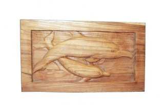 Carved Dolphin Panel