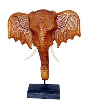 Carved Elephant Head