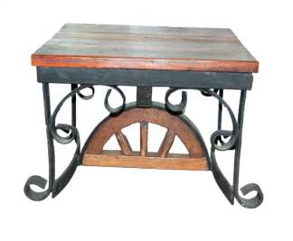Wagon Wheel End Table