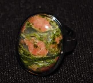 Unakite Finger Ring