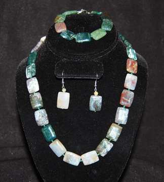 Agate Jewelry Set