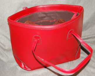 PU Handbag Red-2