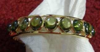 Dipped Gold GreenStone Bang